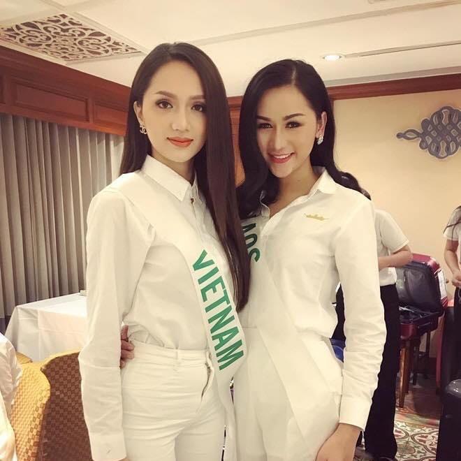 Hoa hậu Hương Giang cùng người đẹp Longsy Sinakhone