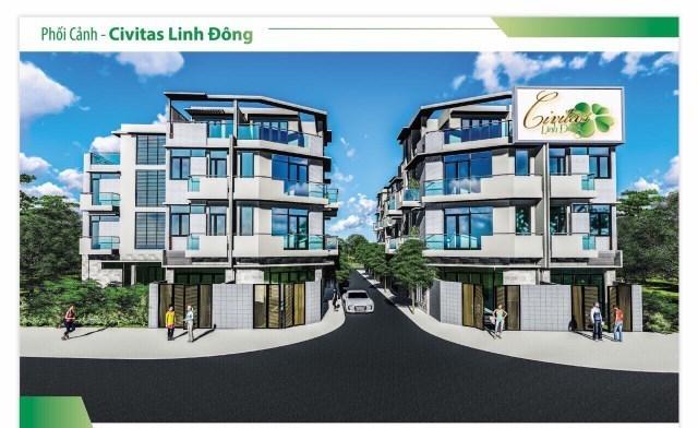 Phối cảnh dự án đất nền Civitas được quảng cáo.