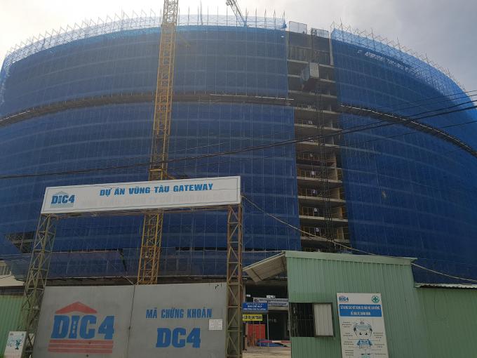 Dù chưa được cấp giấy phép xây dựng nhưng dự án Vũng Tàu Gateway của DIC Corp đã xây dựng trái phép đến tầng 14?