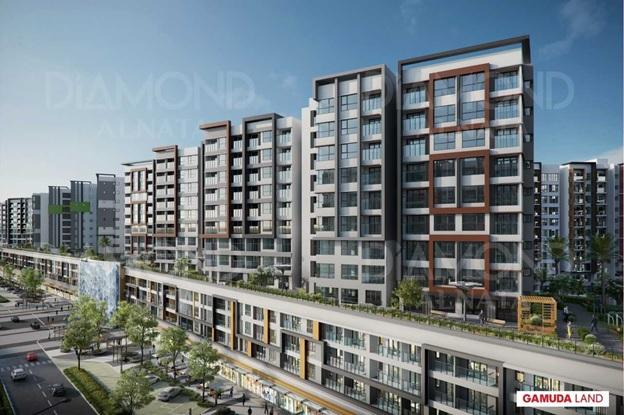 Phối cảnh dự án Diamond Alnata nằm trong Celadon City.