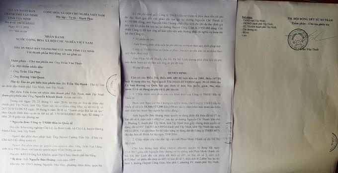 Bản án sơ thẩm (lần 2) của TAND TP Tây Ninh.