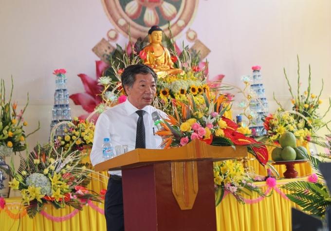 Ông Lê Tuấn Anh phát biểu tại buổi lễ.