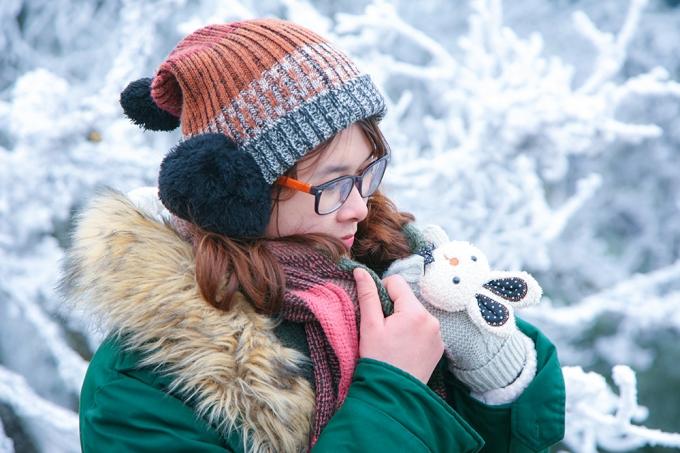 Đỉnh Phia Oắc - Cao Bằng đẹp sững sờ trong băng tuyết