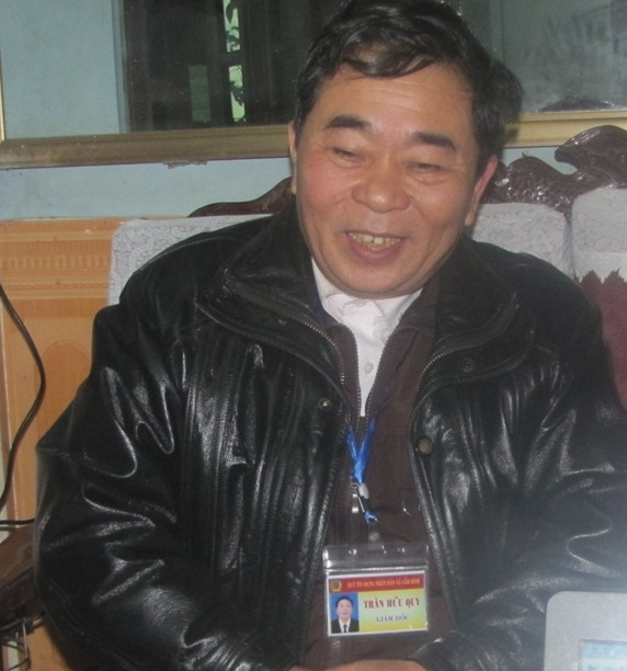 Ông Trần Hữu Quý - Giám đốc Quỹ tín dụng nhân dân xã Cẩm Bình.