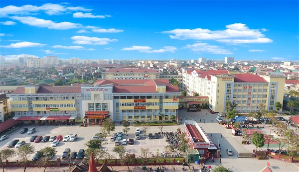 Toàn cảnh bệnh viện đa khoa tỉnh Hà Tĩnh.