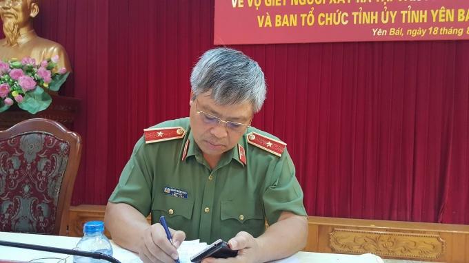 Ông Đặng Trần Chiêu - Giám đốc Công an tỉnh Yên Bái