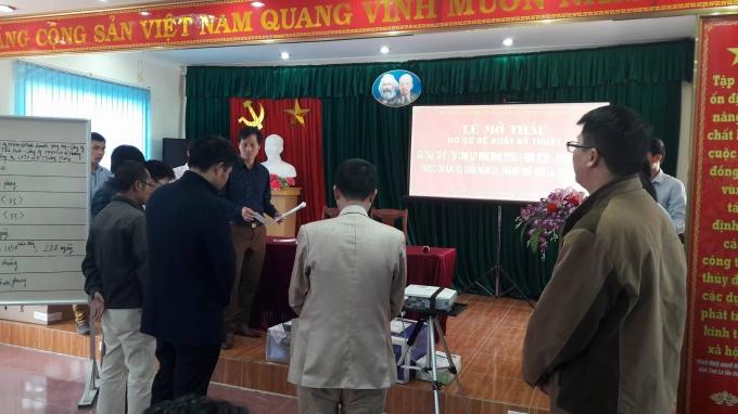 Buổi lễ mở thầu ngày 14/12.