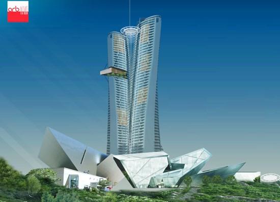 Dự án đã có lúc là tòa khách sạn 40 tầng (cao tối thiểu 140 m), nhưng do gây ảnh hưởng đến cảnh quan khu vực bán đảo Sơn Trà nên đã được điều chỉnh xuống chỉ còn 2 tầng.