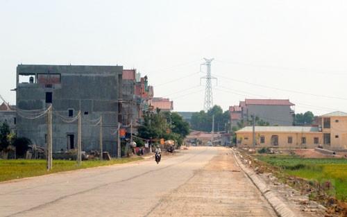 Một góc xã Trí Yên hôm nay. Ảnh Báo Bắc Giang (ảnh chụp năm 2015)