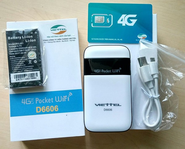 USB Wifi 4G-D6606.(Ảnh internet)