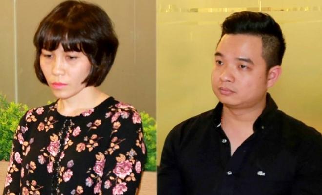 Bị can Châu Nguyên Anh (trái) và Phạm Quang Minh