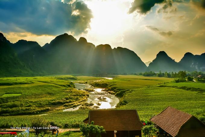 Tân Hoá, Quảng Bình với vẻ đẹp hoang sơ đã được chọn làm bối cảnh trong bộ phim bom tấn Kong: Skull Island. Ảnh: Oxalis