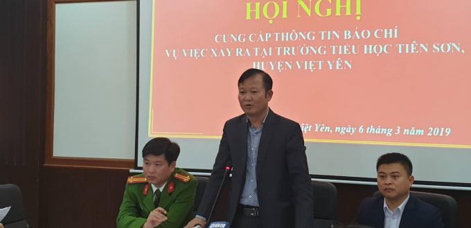 Ông Nguyễn Đại Lượng - PCT UBND huyện Việt Yên.