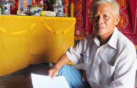 Ông Huỳnh Chiếm Hoạnh, con ông Huỳnh Chiếm Phái. Ảnh: VTC