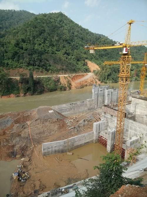 Công trường thi công nhà máy thủy điện Bảo Lâm 1.