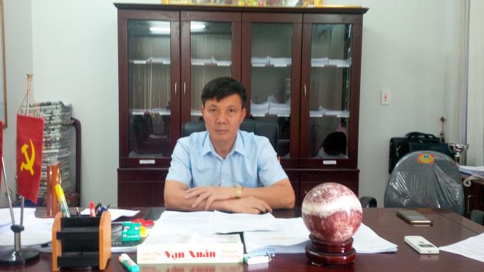 Ông Phạm Văn Cao, Tỉnh ủy viên, Bí thư Huyện ủy Trùng Khánh, Cao Bằng.
