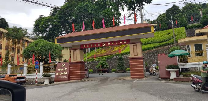 Trụ sở Tỉnh ủy tỉnh Hà Giang, nơi làm việc của Bí thư Triệu Tài Vinh.