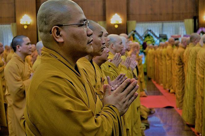 TP HCM: Hơn 500 tăng ni, phật tử tưởng niệm cố Chủ tịch nước Trần Đại Quang