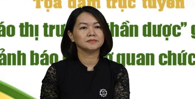 Bà Trần Việt Nga - Phó Cục trưởng Cục An toàn thực phẩm, Bộ Y tế.