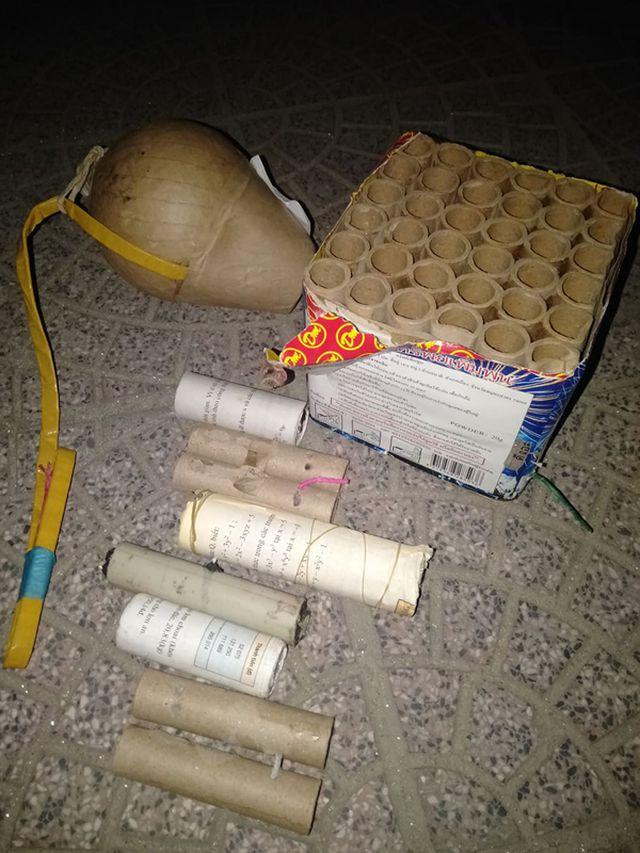 Nhiều hộp pháo, quả pháo chưa sử dụng được Công an Hương Sơn thu giữ.