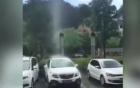 Hiện tượng mưa rơi thành cột tại Trung Quốc