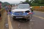 Xe ô tô biển xanh của Bộ GD&ĐT đi lấn làn, tông một người tử vong tại Sơn La