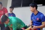 Chùm ảnh: Olympic Việt Nam 'luyện công' chuẩn bị đối đầu Olympic Nepal