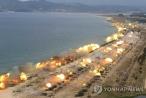 Hơn 300 khẩu pháo Triều Tiên đồng loạt khai hỏa về phía biển