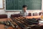 Nghệ An: Bắt đối tượng buôn ma túy phát hiện kho vũ khí nóng
