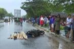 Quảng Ngãi: Xe đầu kéo va chạm xe máy, 2 người thương vong