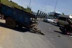 Lâm Đồng: Tài xế máy cày bị ôtô tông trọng thương trên đường cao tốc