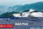 Du khách phấn khích nghịch băng tuyết trên đỉnh Mẫu Sơn