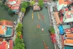 150 tay chèo đua tài trong hội bơi Đăm ở Hà Nội