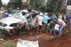 Nóng: Xe tải đấu đầu xe con khiến 5 người thương vong tại Đăk Nông