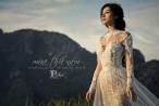 Khánh Linh The Face khoe 3 vòng hút mắt khi diện váy cưới