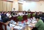 Thường trực Ban Bí thư Trần Quốc Vượng làm việc với Ban cán sự Đảng Bộ Tư pháp
