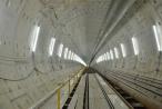 Đường hầm metro trong lòng đất đang dần thành hình