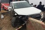 'Xế sang' Audi bị đâm nát bét trên cao tốc Pháp Vân - Cầu Giẽ