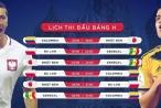 Lịch thi đấu World Cup 2018 hôm nay (19/6): Colombia, Ba Lan xuất quân