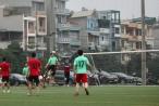 CLB bóng đá Liên quân các nhà báo tại Hà Nội giao hữu bóng đá với công ty Điện lực Hà Đông