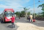 Tai nạn liên hoàn do xe máy băng qua đường