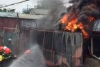 Video: Cháy kho nhựa phế thải tại Triều Khúc