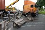 Xe container 'đại náo' xa lộ Hà Nội, nhiều người thót tim