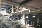 Nam Định: Ít nhất 1 người bị thiệt mạng trong vụ sập giàn giáo tại siêu thị đang xây