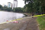 Hà Nội: Bàng hoàng phát hiện thi thể người đàn ông nổi mập mờ trên hồ Thiền Quang