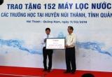 Quảng Nam: Trao tặng 152 máy lọc nước cho các trường học trên địa bàn huyện Núi Thành