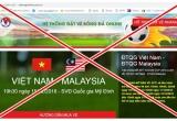 Sự thật về website giả mạo bán vé trận chung kết AFF Cup 2018 Việt Nam – Malaysia