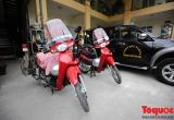 Cảnh sát PCCC Hà Nội sáng tạo xe wave thành mô tô cứu hỏa