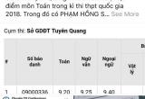 Vụ điểm thi cao bất thường trong kỳ thi THPT Quốc gia 2018: Thêm Hòa Bình, Tuyên Quang bị nghi vấn?
