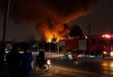 Hà Nội: Hiện trường vụ cháy xưởng nhựa ở Triều Khúc